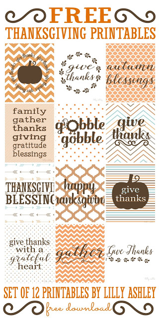 10 Thanksgiving Printables and Cut Files