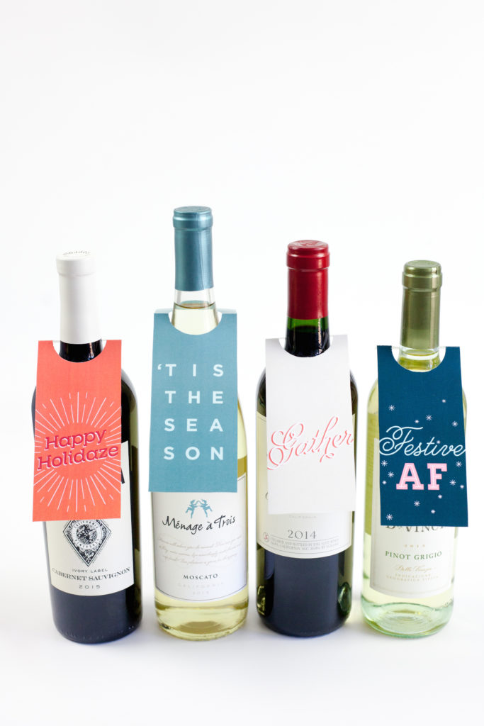 Printable Wine Bottle Gift Tags
