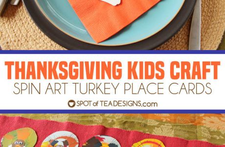 Thanksgiving Kids Craft: Spin Art Turkey Place Cards