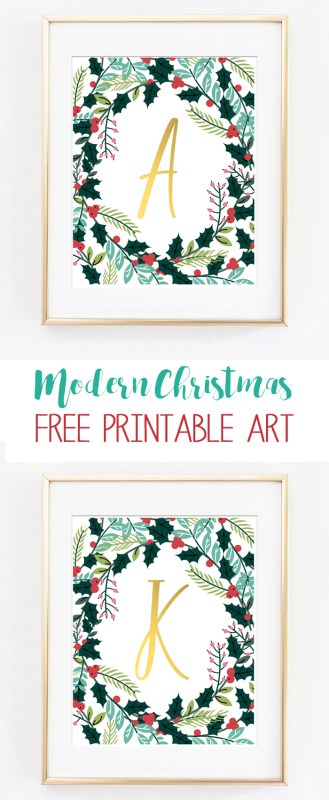 Christmas Alphabet Printable Art