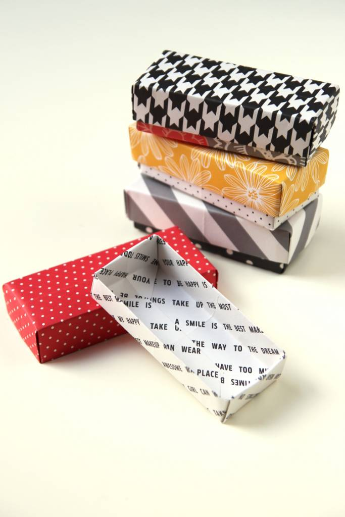 DIY Rectangular Origami Gift Boxes