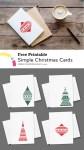 Printable Simple Christmas Cards