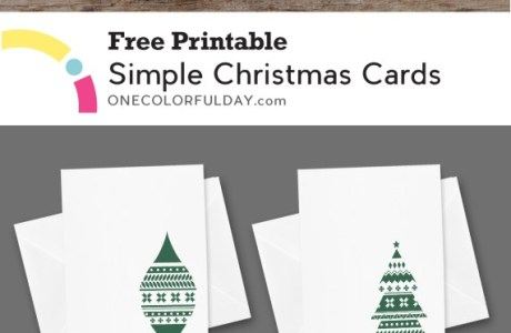 Printable Simple Christmas Cards