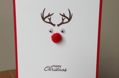 Super Speedy and Cute Rudolph Christmas Card