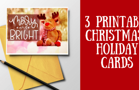 Three Printable Photo Christmas Cards