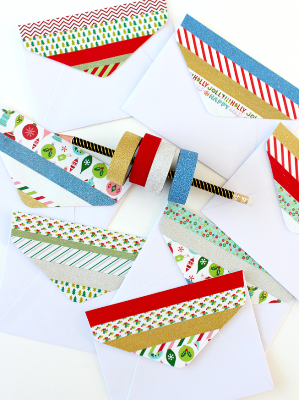 DIY | Christmas Washi Tape Envelope Flaps