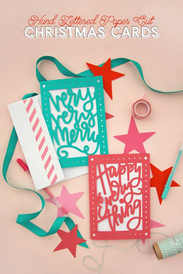 DIY Paper Cut Christmas Card with SVG Cut Files