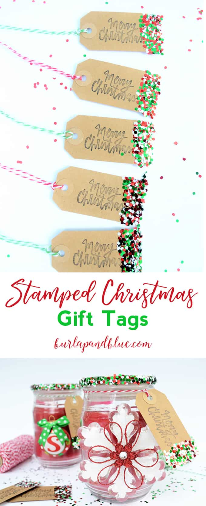 Tutorial | Make Stamped Christmas Gift Tags