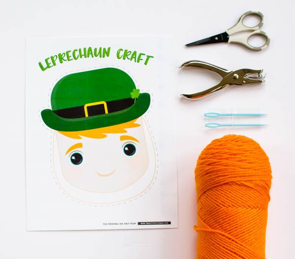 Easy Leprechaun Craft for Kids with Printable