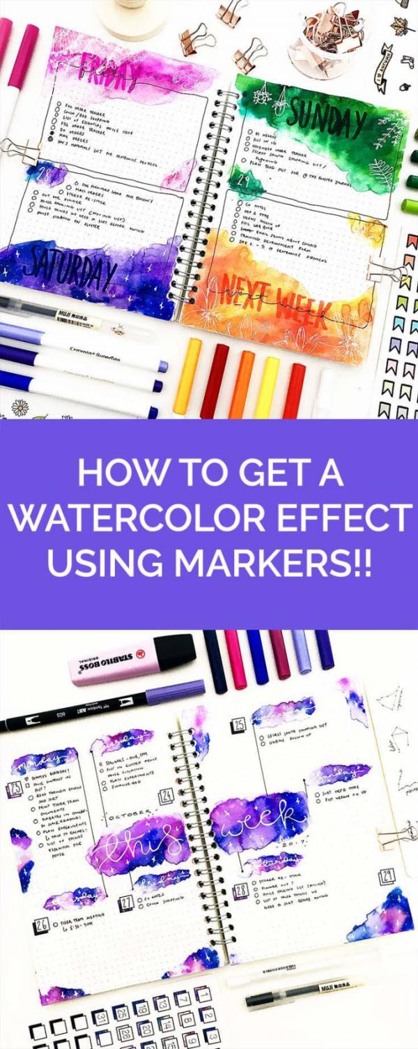 How to Get the Effect of Watercolor with Markers