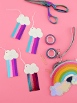DIY | Metallic Washi Tape Rainbow Tags