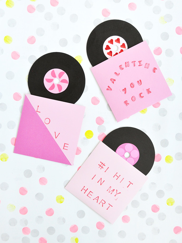 DIY | Painted Record Valentines