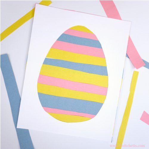 This Fun Paper Easter Egg Craft Will Help Your Little Ones Work On Their Scissor Skills Get The Tutorial Here