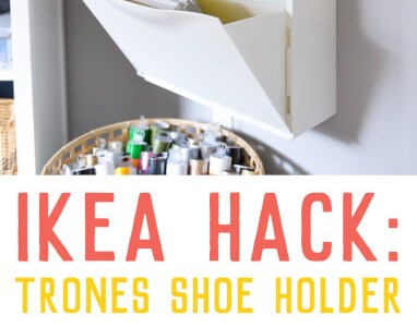 IKEA Hack: Use Trones Shoe Holders for Scrapbook Papers