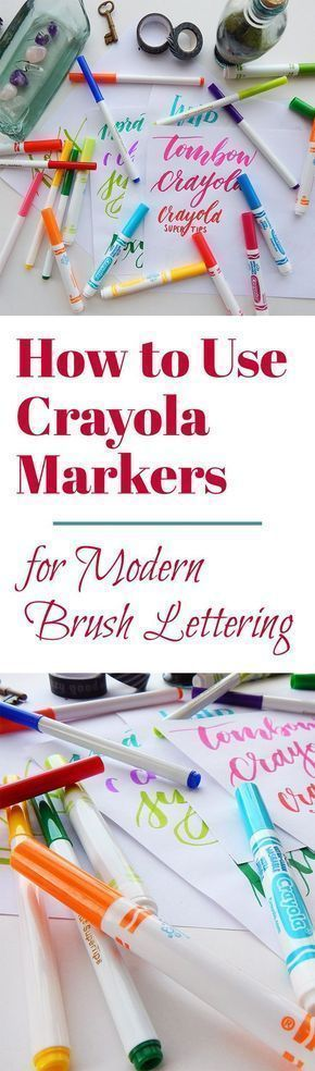 How to Use Crayola Markers to Create Modern Brush Lettering
