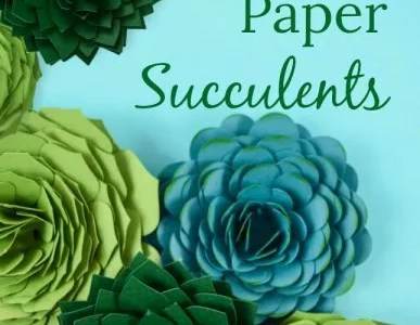 How to Make Paper Succulent Flowers