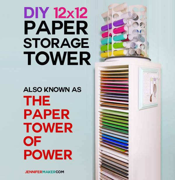 12×12 Paper Storage – DIY Vertical Organizer for Scrapbook Paper | Ikea Hack