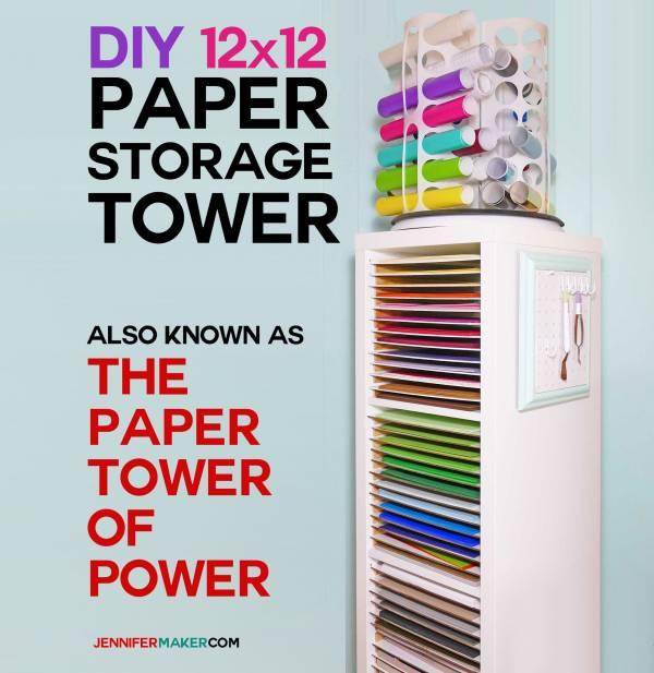 12×12 Paper Storage – DIY Vertical Organizer for Scrapbook Paper| Ikea Hack