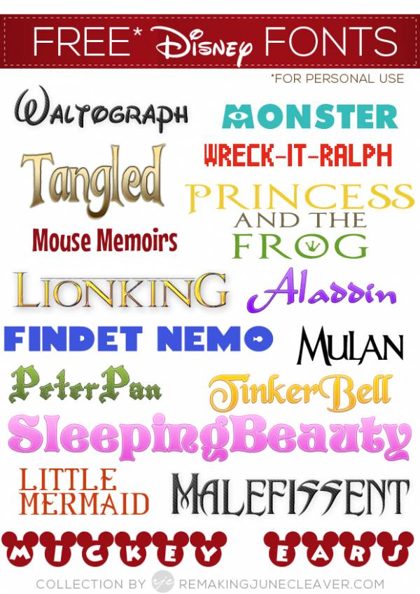 39  Disney Fonts – Moana, BFG, Zootopia + More