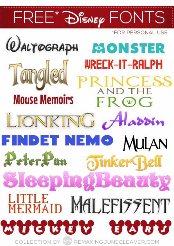 39 Disney Fonts – Moana, BFG, Zootopia + More