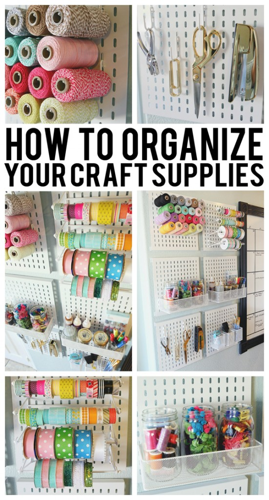 How to organize your craft supplies when space is limited for Craft supplies organization ideas
