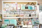 Craft Room Organization | Heidi Swapp Inspired Peg Board