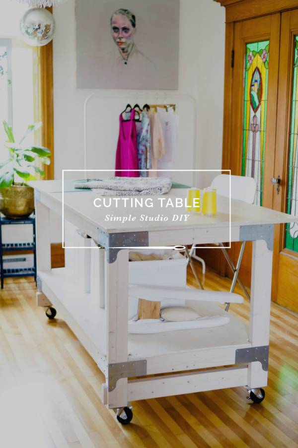Work Table DIY for Your Craft or Sewing Studio