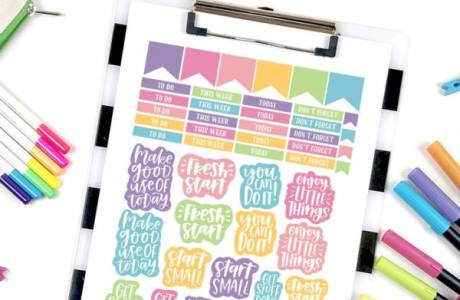 Printable Motivational Planner Stickers