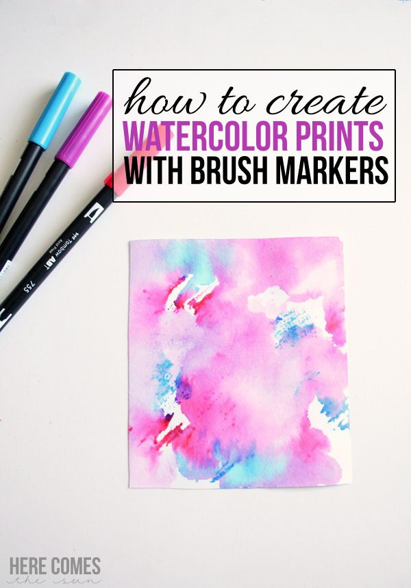Create Watercolor Prints with Brush Markers – An Easy Tutorial