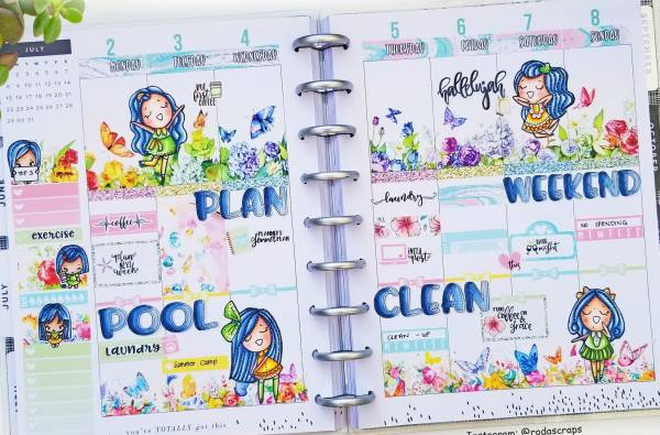 Stamped Planner Pages