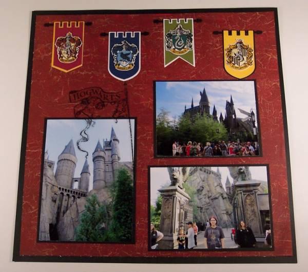 Wizarding World Of Harry Potter Scrapbook Scrap Booking