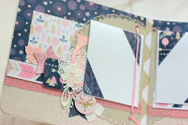 Baby Scrapbook Shaker Cover and Pages