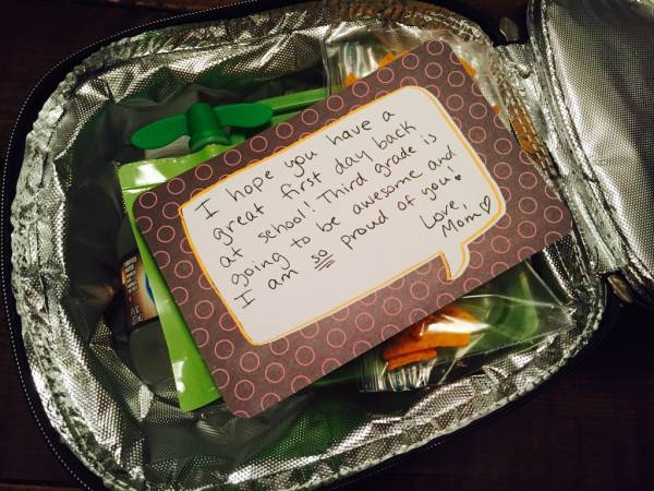Use Leftover Journaling Cards for Lunch Box Notes