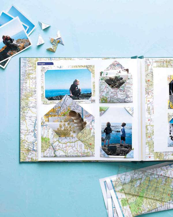 Using Maps to Scrapbook