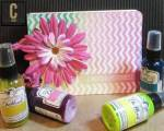 Customize a Scrapbook Cover with Ink Sprays