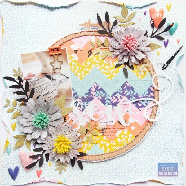 Quilting Inspired Layout