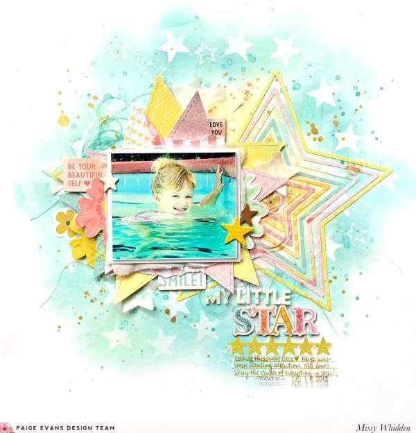 Mixed Media Star Layout