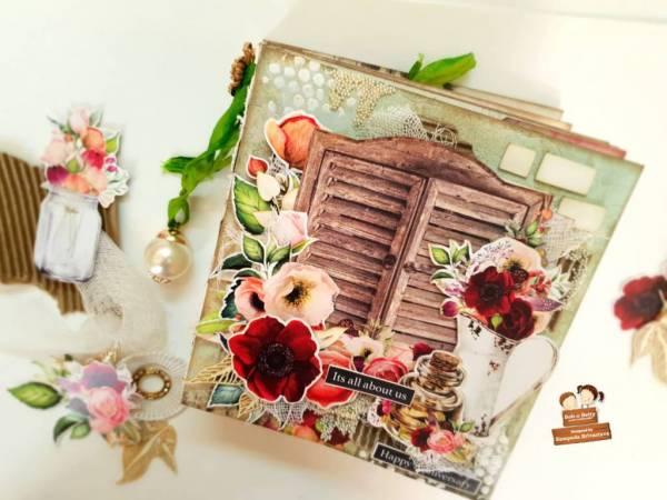 Floral Anniversary Mini Album