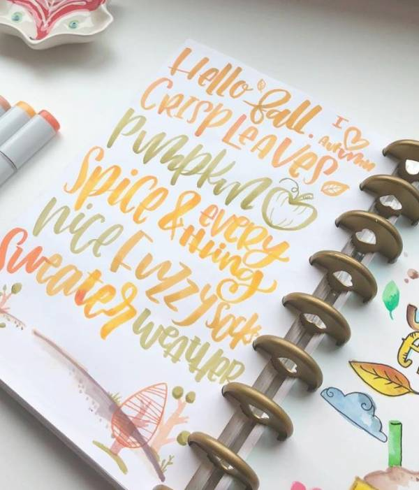 Hand Lettered Planner Pages