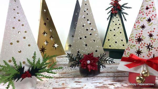 Paper Trees Christmas Decor