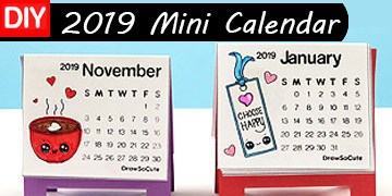 2019 Mini Calendar Printables