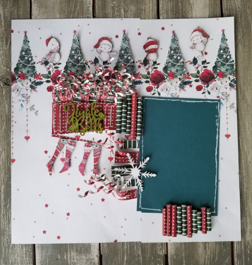 Rolled Paper Embellishments Page