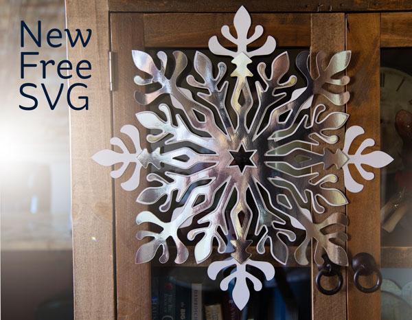 Snowflake Die Cut File Download
