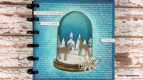Mixed Media Winter Journal Page