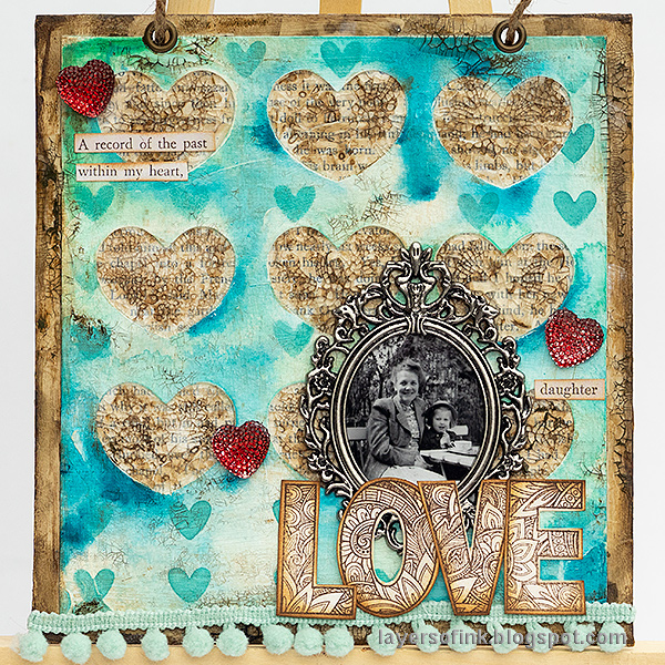 Mixed Media Love Layout