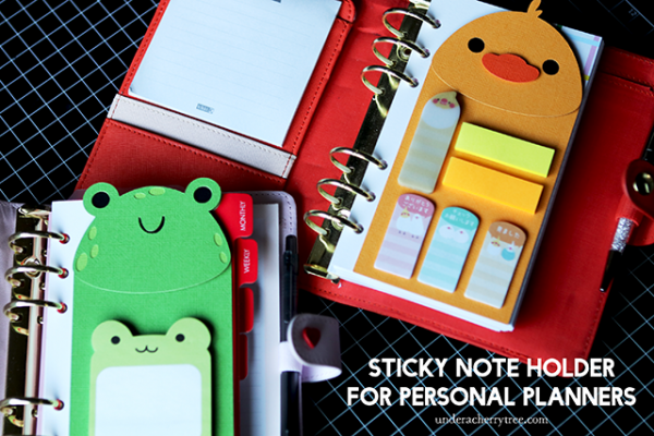 Sticky Note Holder for a Planner