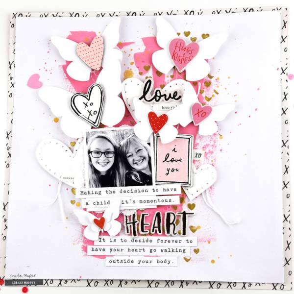 Winged Hearts Layout