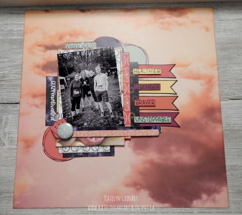 Motivated Scrapbook Page