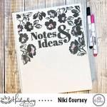 Custom Fabric Covered Notebook