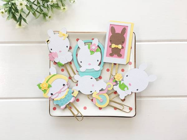 Spring Bunny Planner Clips